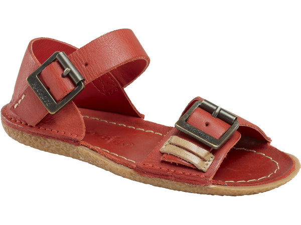 Kickers Pastille Red Girl's Sandals with Buckle