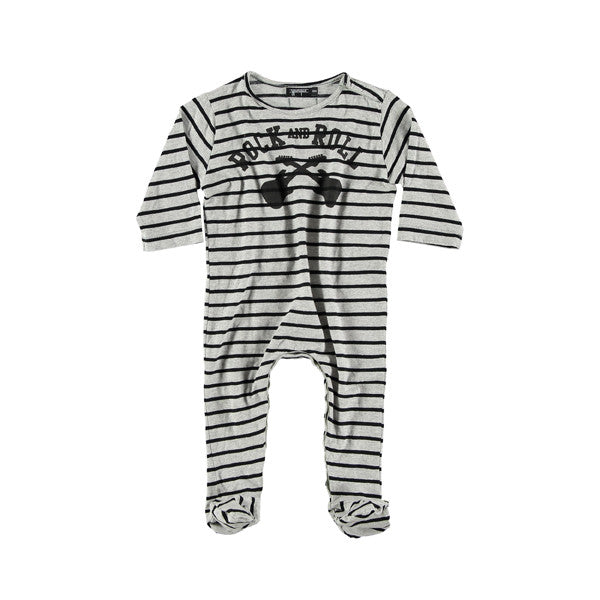 Yporque - Rock Baby Striped Jumpsuit