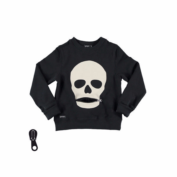Yporque - Unisex Skull Black Sweater