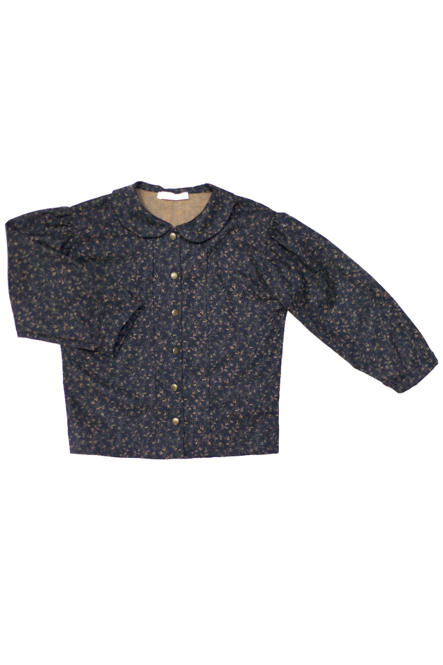 Blu Pony Vintage Tess Winter Midnight Floral Blouse
