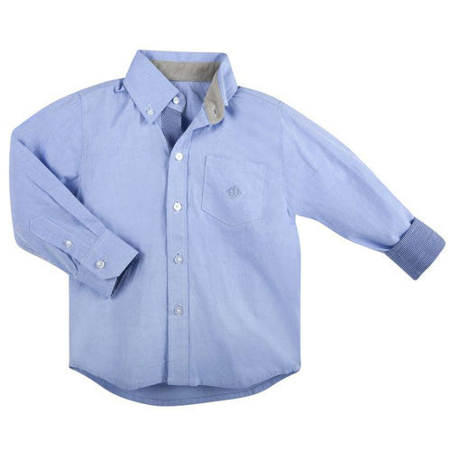 Andy and Evan Blue Oxford Shirt