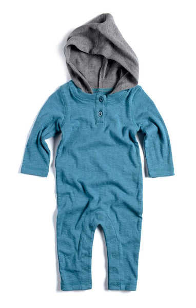 Appaman Baby Boy Hooded Henley Romper