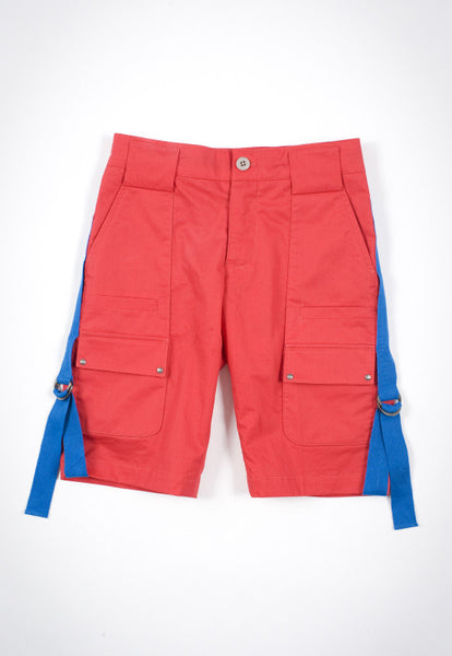 Kico Kids Boy's Red Cargo Bermudas Short