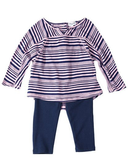 Splendid Baby Girl Aster Stripe Long Sleeve Set