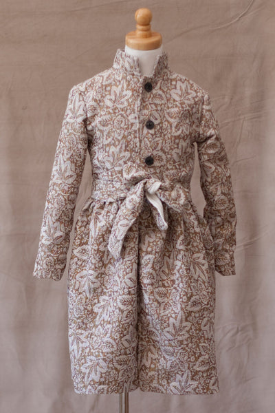 A.BIRD Blake Girl's Floral Design Coat
