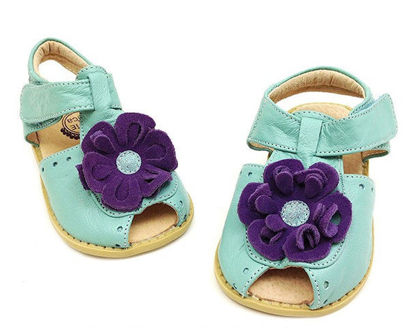 Livie & Luca Girl's Light Blue Bloom Shoes