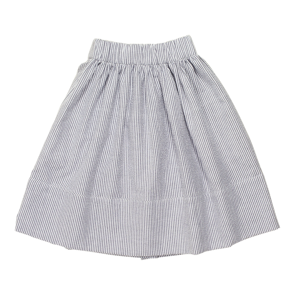 Blu Pony Vintage Girls Willa Blu Stripe Skirt