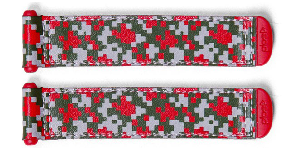 Plae Minecraft/Camo Red Shoe Tabs