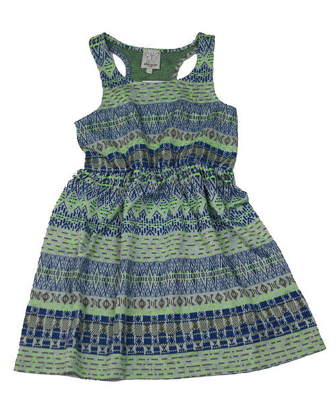 Ella Moss Girl's Blue Jacquard Dress