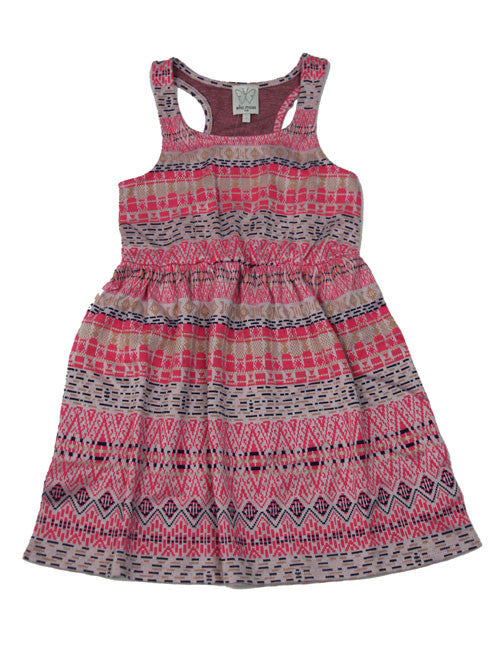 Ella Moss Pink Jacquard Dress