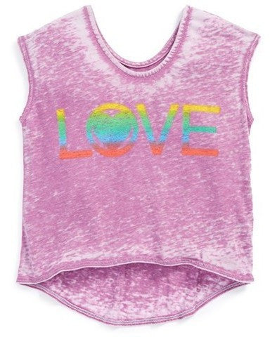 Chaser Girls' 'Love' Burnout Tank Tee