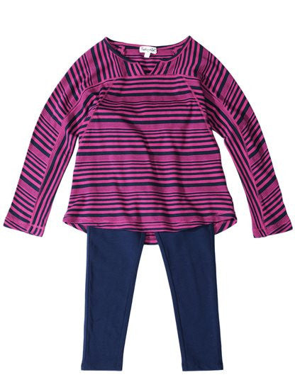 Splendid Little Girl Aster Stripe Long Sleeve Set