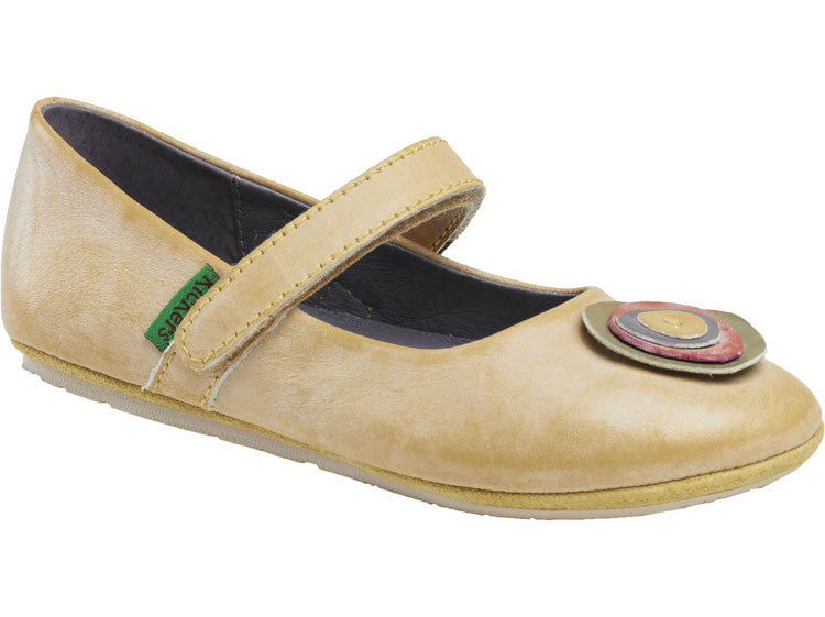 Kickers Dorine Yellow Girl's Mary Jane Shoes