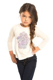 Chaser Kids Vintage Jersey Tee -Hand of Fatima (Toddler Girls & Little Girls)