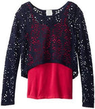 Ella Moss Girl's Laser Cut Tulip Top