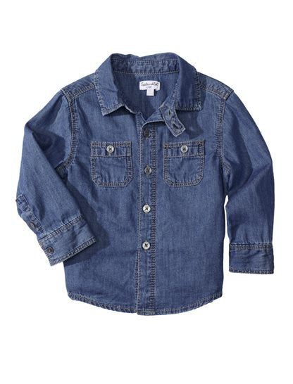 Splendid  Baby Boy Chambray Woven Shirt