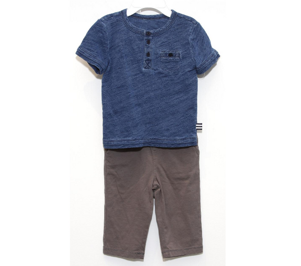 Splendid Baby Boy Indigo Dye Short Sleeve Set