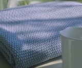 Moss Verbena Guz Hand Knitted Style Acrylic Knit Throw