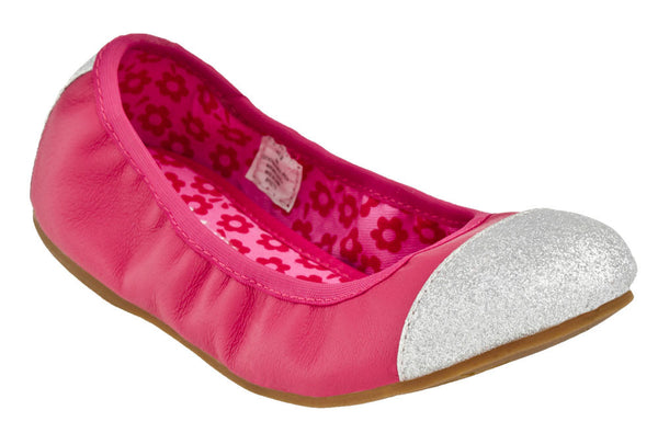 Lina Leather Pink Ballet Flat By Hanna