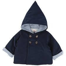 Petit Bateau Baby Boy Navy Hooded Jacket