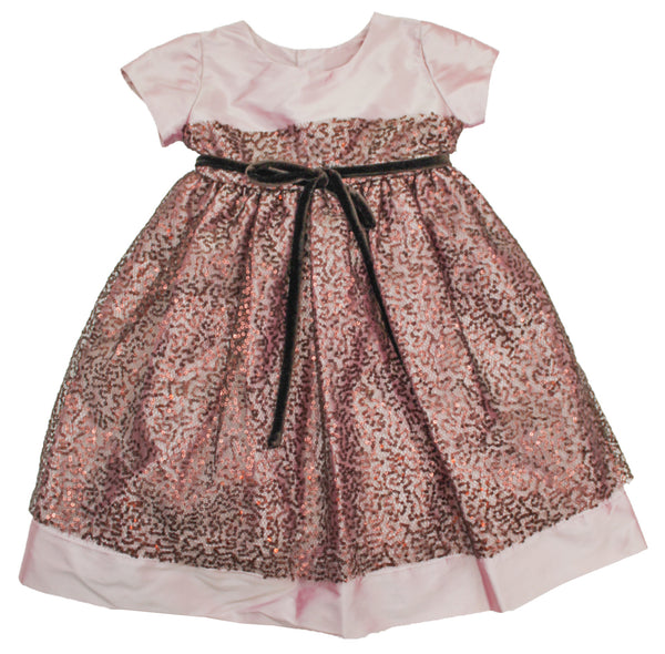 Isabel Garreton Cap Sleeve Sequins and Taffeta Dress