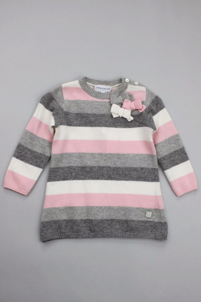 Simonetta Baby Girl's Stripe Wool Dress.