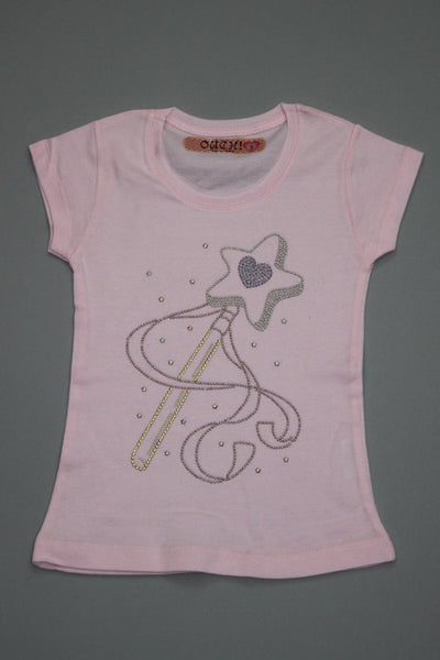 OUCH! Fancy Pink T-Shirt with Wand and Star