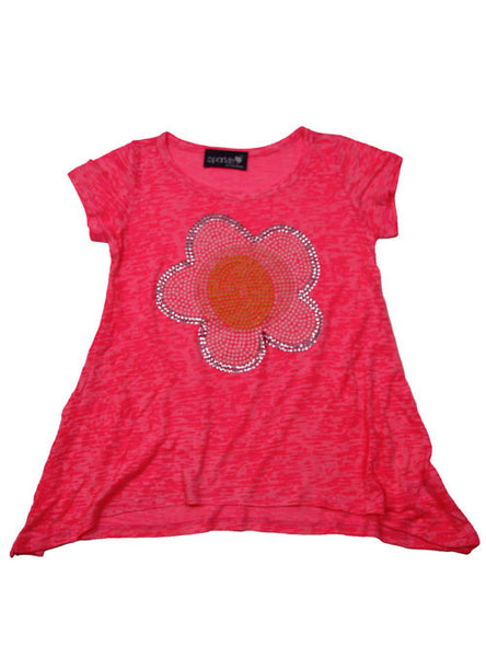 Sparkly Daisy Design Pink Tees/T-Shirts