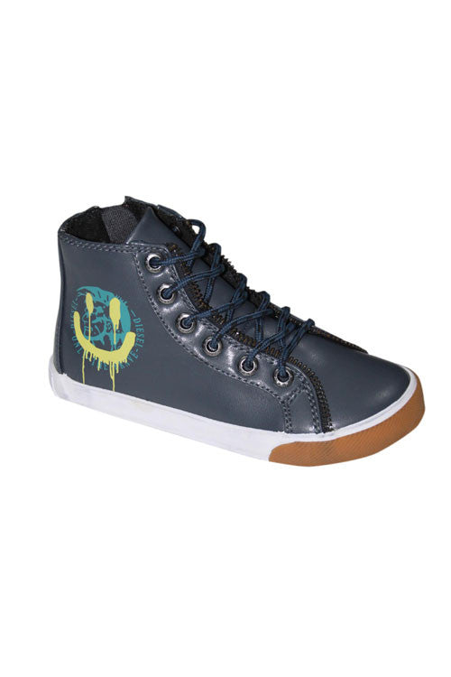 Diesel Boy's Sneaker in Melting Pot w/ Indian Smile Logo