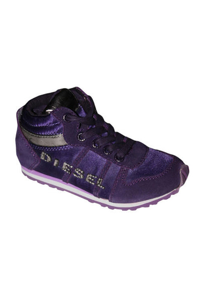 Diesel Marathon Girl's Mid Sneaker in Purple