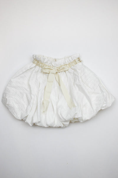 A.Bird Ilse dobby Girl's White Cotton Lace Skirt