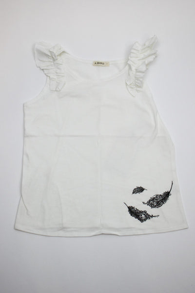 A.Bird Girl's White Tank Top