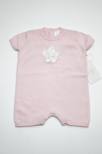 CECECO BABY Romper with linen flower patch