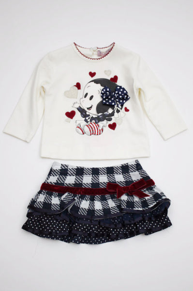 Monnalisa Baby Girl's Top and Skirt Set