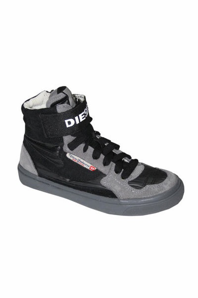 Diesel Casual Boy's High-Top Sneaker in Black