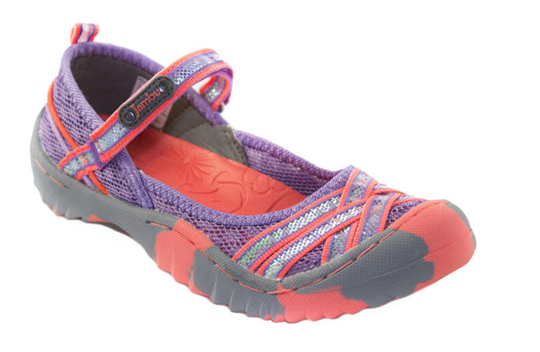 Jambu-Boa 3 Lilac/Neon Orange Color Sport Shoes