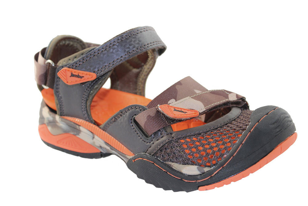 Jambu-Tokay Brown/Orange Color Sport Sandals/Shoes