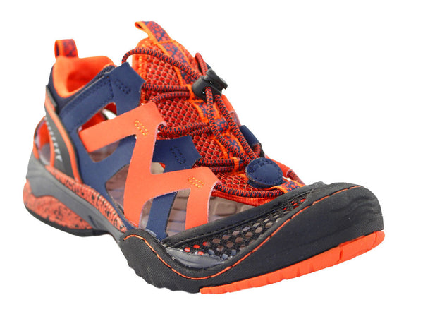 Jambu-Squamata Navy/Orange Color Sport Sandals/Shoes