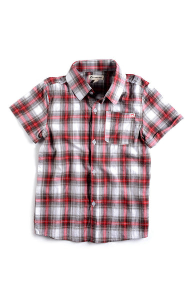 Appaman Boys Red Plaid Tilden Shirt