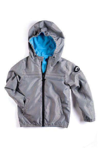 Appaman Boys Check Gray/Blue Reversible Windbreaker