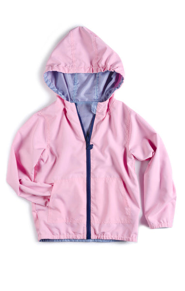 Appaman Baby Girls' Rail Road/Pink Reversible Windbreaker