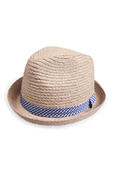 Appaman Boys Natural Mercer Fedora Hat