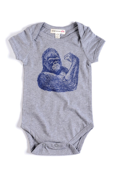 Appaman Baby Boys Heather Gorilla Onesie