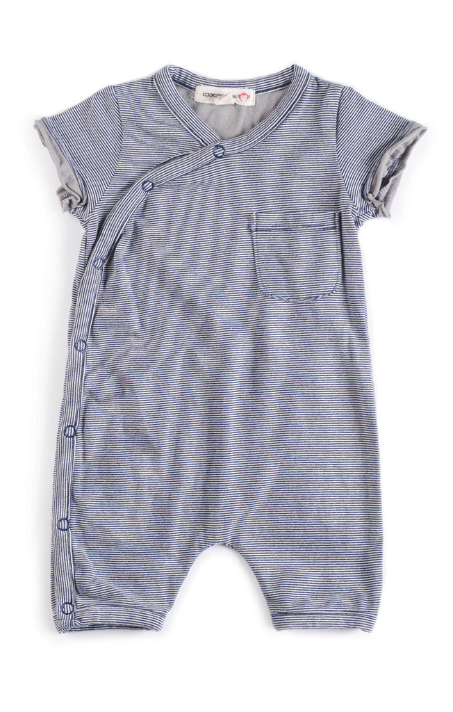 Appaman Baby Boys Indigo Pocket Romper