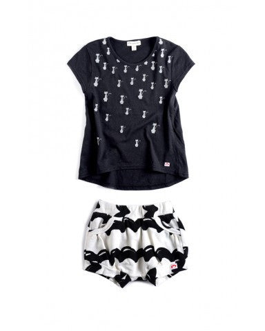Appaman Baby Girls White/Black Set