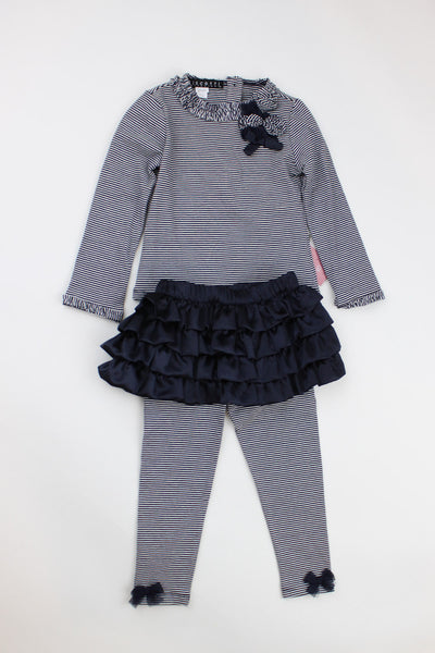 Kate Mack Girl's Top & Skirted Legging Set