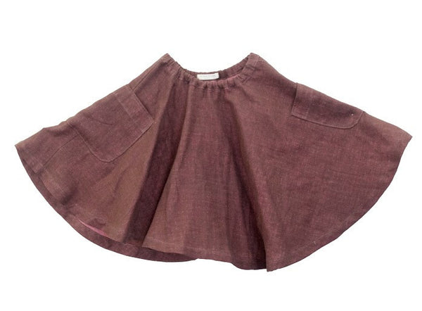 Blu Pony Vintage Girl's Roses color Skirt Lavinia R.D