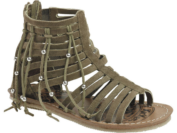 Kickers Lilouka Khaki Girl's Sandals with Zip