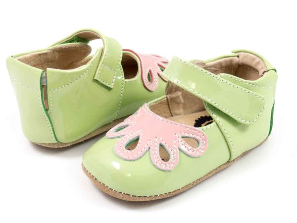 Livie & Luca Baby Girls Petunia Green Petal Shoes