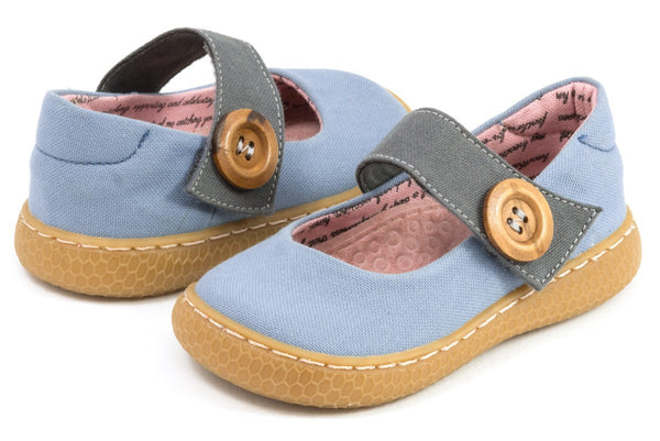 Livie & Luca Girls Light Blue Carta ll Shoes